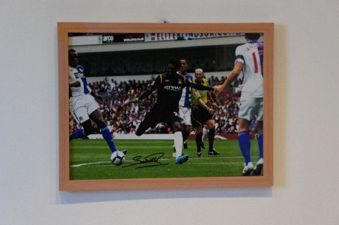 Adebayor Man City Football Memorabilia