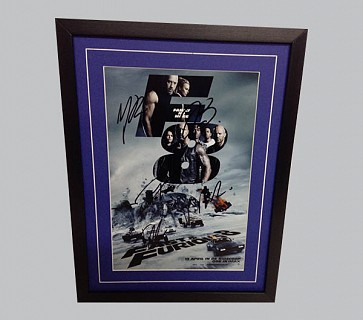 F8: The Fate of the Furious Multi Signed Movie Poster