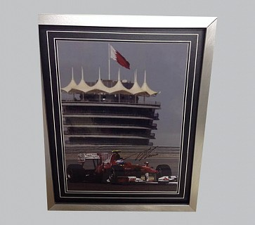 Alonso Signed F1 Colour Photo