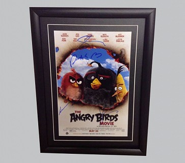 Angry Birds Signed Movie Poster