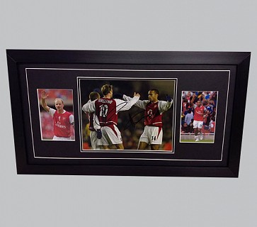 Dennis Bergkamp & Thierry Henry Signed Arsenal Memorabilia
