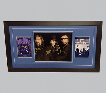 Black Sabbath Signed Colour Photo + 2 x Posters