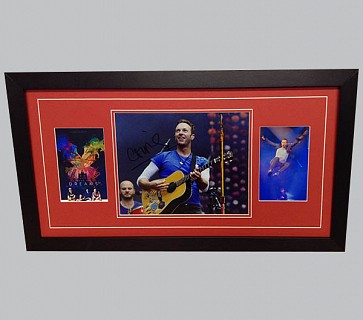Coldplay Colour Photo Signed by Chris + Poster & Photo