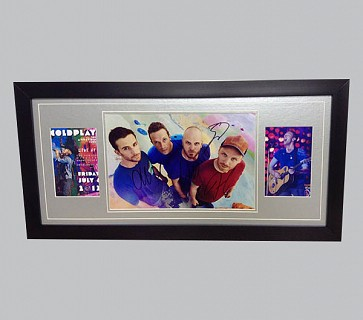 Coldplay Signed Colour Photo + Poster & Photo