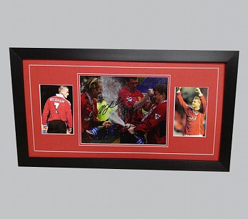 David Beckham & Ole Gunnar Solskjaer Signed Man Utd Photo