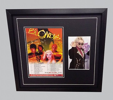 Blondie Concert Flyer Signed by Debbie Harry + Colour Photo