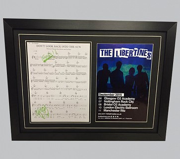 "The Libertines""Don't Look Back Into The Sun"" Signed Song Sheet + Poster"