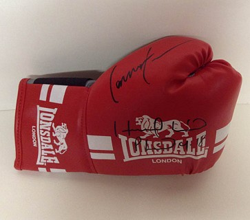 Evander Holyfield & Lennox Lewis Signed Boxing Glove