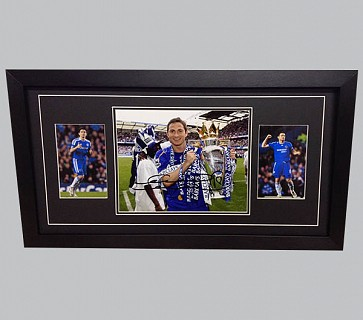 Frank Lampard Signed Chelsea FC Colour Photo + 2 Photos