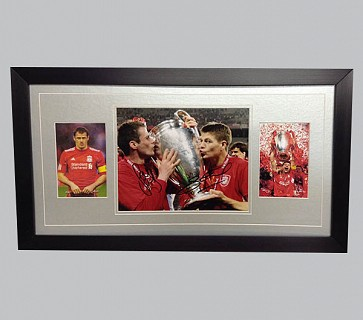 Jamie Carragher & Steven Gerrard Signed Liverpool Colour Photo