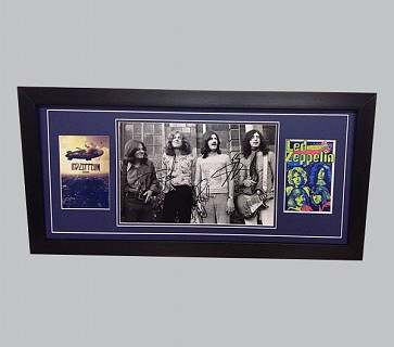 Led Zeppelin B&W Signed Photo & 2 Colour Posters