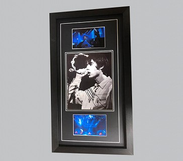 Liam Gallagher Signed Black & White Photo + 2 Colour Photos