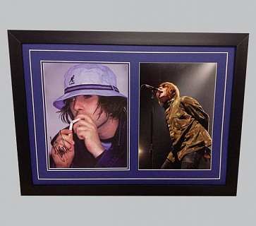 Liam Gallagher Signed Colour Photo + Concert Photo