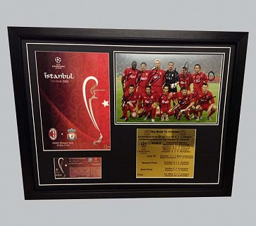 Liverpool's 2005 Champions League Team Signed Photo & More