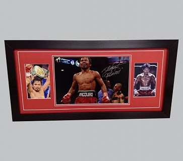 Manny Pacquiao Signed Colour Photo + 2 Photos