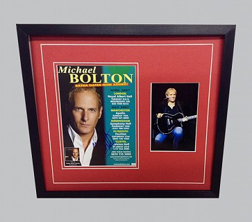 Michael Bolton Signed Tour Poster + Photo