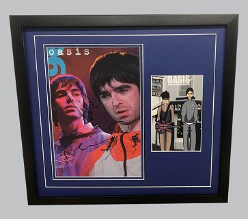 Liam & Noel Gallagher Oasis Signed Photo + Colour Poster