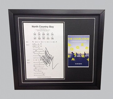 "The Charlatans ""North Country Boy"" Signed Songsheet + Colour Poster"