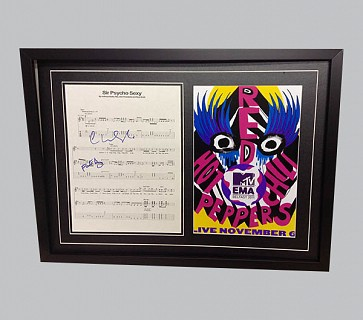"Red Hot Chili Peppers ""Sir Psycho Sexy"" Signed Song Sheet"