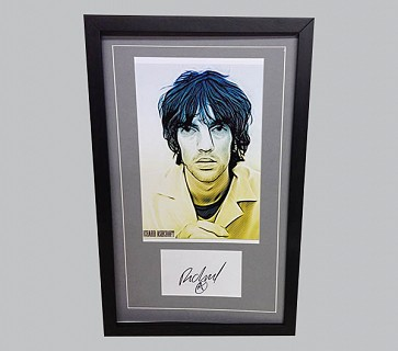 Richard Ashcroft Signed Postcard + Painting