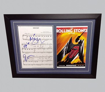 "Rolling Stones ""Sad Day"" Signed Music Sheet + Poster"