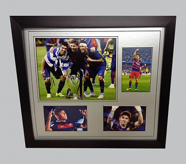 Suarez, Messi & Neymar Signed Barcelona Photo