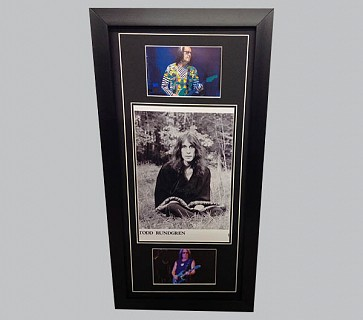 Todd Rundgren Signed B&W Photo + 2 Colour Concert Photos