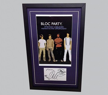 Bloc Party Signed Rock Music Collectible